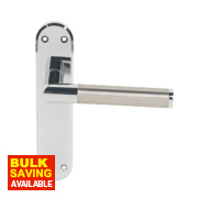 Serozzetta Trend Lever Door Handle Pack Polished Chrome / Satin Nickel