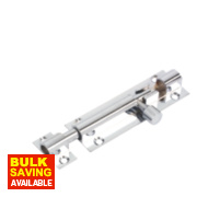 Straight Door Bolt Polished Chrome 76mm