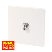 Varilight 1-Gang 2-Way 10A Ice White Metal Toggle Switch