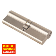 Yale 6-Pin Euro Cylinder Lock BS 45-50 (95mm) Satin Nickel