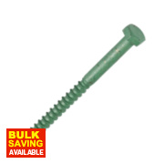 Timco In-Dex Exterior Coach Screws Organic Green M8 x 50mm Pk10