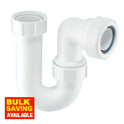 McAlpine Tubular 'P' Trap 40mm White