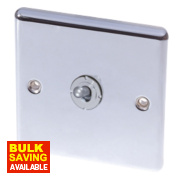 LAP 1-Gang 2-Way 10AX Toggle Switch Polished Chrome