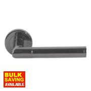 Serozzetta Trend Lever on Rose Modern Door Handle Pair Black Nickel