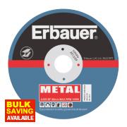 Erbauer Metal Cutting Discs 115 x 1 x 22.23mm Bore Pack of 5