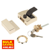 Yale 85 Narrow Night Latch Brass 40mm Backset