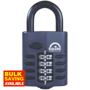 Squire Steel All Weather Combination Padlock Black 48mm