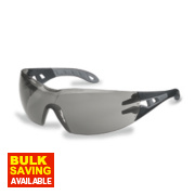 Uvex Pheos Smoke Grey Lens Safety Specs Small