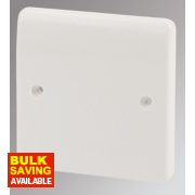 MK 1-Gang Blank Plate White