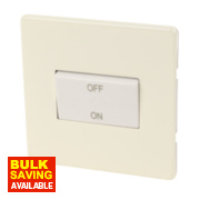 Varilight 1-Gang White Choc Fan Isolator Switch
