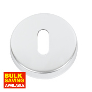 Standard Keyway Escutcheon Satin Aluminium 52mm Pack of 2