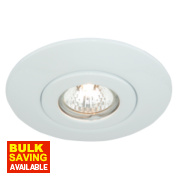 Fixed Circular Low Voltage Ceiling Downlight Converter White 12V