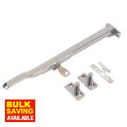 Lockable Casement Stay Polished Chrome 255mm