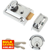 Yale 77 Traditional Night Latch Polished Chrome-Plated 60mm Backset