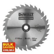DeWalt DT1151-QZ Circular Saw Blade Portable 184 x 16mm 30T