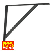 Heavy Duty Bracket Black 300 x 300mm Pack of 2