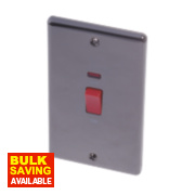 LAP 2-Gang 45A DP Cooker Switch Black Nickel