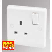 LAP 13A 1-Gang DP Switched Plug Socket White