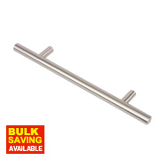 Rod Handle Brushed Nickel 128mm