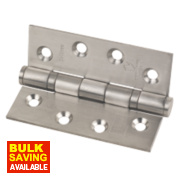 Grade 13 Fire Door Hinge Satin Stainless Steel 102 x 76mm Pk3