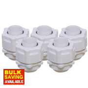 Corrugated Conduit Adaptors White 20mm Pack of 5