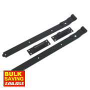 Gate Hinge Black 50 x 610 x 165mm Pack of 2