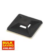2-Way Adhesive Base Black 25 x 25mm Pack of 100