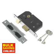 Century 5-Lever Mortice Sashlock Chrome Plated 2.5