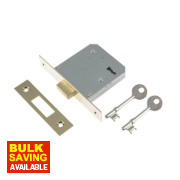 Century 3-Lever Mortice Deadlock Brass Plated 3