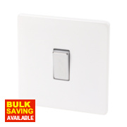 Varilight 1-Gang 2-Way 10A Ice White Metal Rocker Switch
