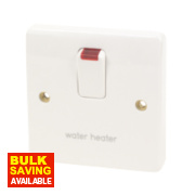 MK 20A DP Water Heater Switch with Neon White