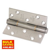 Grade 13 Fire Door Insignia Hinges Sat. SS 102 x 76mm Pk3