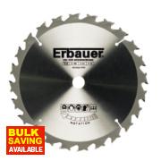 Erbauer TCT Circular Saw Blade 24T 184x16mm
