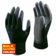 Showa B0500 PU Palm Fit Gloves Black X Large