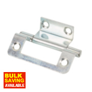 Double Cranked Hinges Zinc-Plated 35 x 50mm Pack of 2