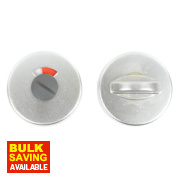 Thumbturn & Release Door Handle Pack Satin Aluminium
