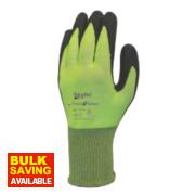 Skytec Theta 5 Cut 5 Nitrile Foam Palm Gloves Green Large