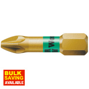 Wera Bi-Torsion Extra Hard Gold Pozi #2 25mm