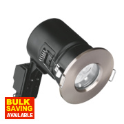 Aurora Fire Rated Fixed LED Downlight IP65 Satin Nickel 4.5W