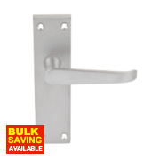 Long Back Victorian Straight Door Handle Pack Satin Chrome
