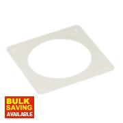 Manrose Round Wall Plate White 120mm
