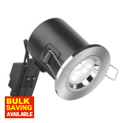 Aurora 30, 60 & 90min Fire Rated Fixed Compact LED Downlight IP20 Polished Chrome 50W
