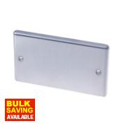 LAP 2-Gang Blank Plate Stainless Steel