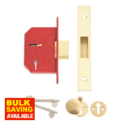 Union 5-Lever Mortice Deadlock Brass 2½