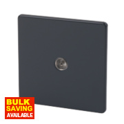 Varilight 1-Gang Jet Black Coaxial TV Socket