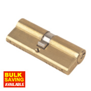 Yale 6-Pin Euro Cylinder Lock BS 40-40 (80mm) Polished Brass