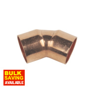 Flomasta End Feed 45° Elbows 15mm Pack of 10