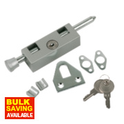 Sterling Multipurpose Door Bolt Silver/Grey