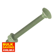 Timco In-Dex Exterior Coach Screws Organic Green 10 x 200mm Pk10