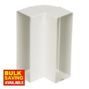 Manrose Vertical 90° Bend White 120mm